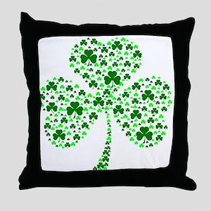 Irish Shamrocks Throw Pillow