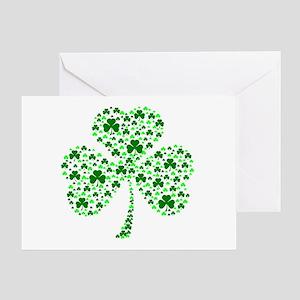 Irish Shamrocks Greeting Card