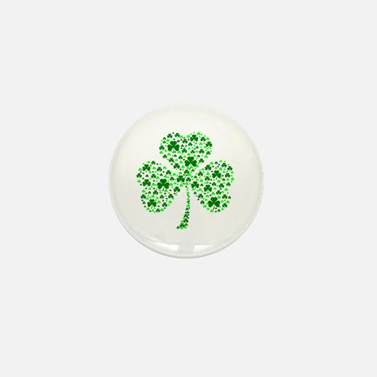 Irish Shamrocks Mini Button