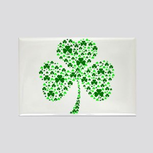 Irish Shamrocks Rectangle Magnet
