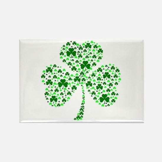 Irish Shamrocks Rectangle Magnet