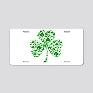 Irish Shamrocks Aluminum License Plate