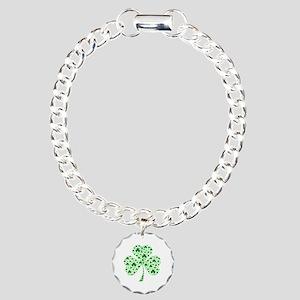Irish Shamrocks Charm Bracelet, One Charm