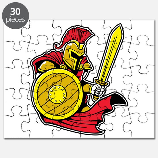Red Roman Warrior Puzzle