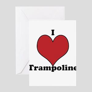 I Love Trampoline Greeting Card