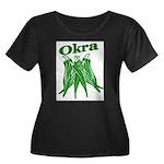 OIKRA Women's Plus Size Scoop Neck Dark T-Shirt