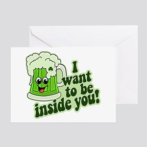 I Want To Be Inside You Greeting Card
