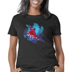 All Over Snowboard in Brig Women's Classic T-Shirt