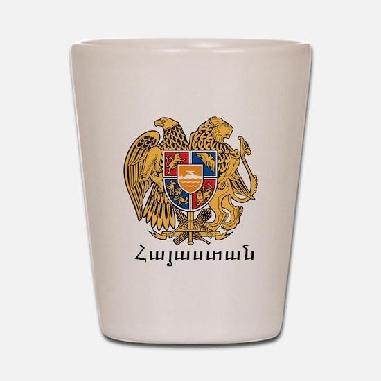 Armenia Emblem Shot Glass