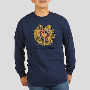 Armenia Emblem Long Sleeve Dark T-Shirt