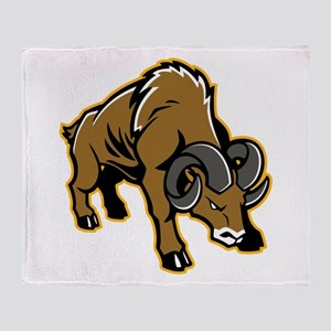 Charging Ram Throw Blanket