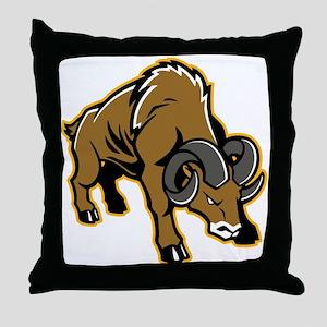 Charging Ram Throw Pillow