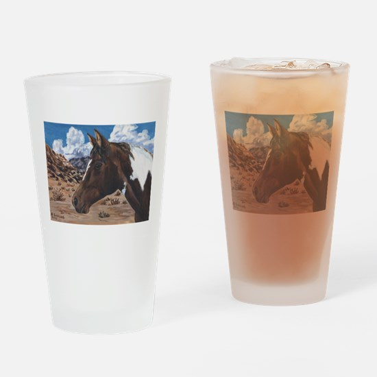 Desert Paint Horse Drinking Glass