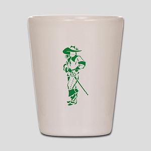 Green Musketeer Shot Glass