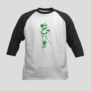 Green Musketeer Kids Baseball Jersey