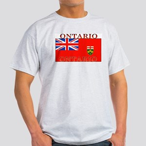 Ontario Ontarian Flag Ash Grey T-Shirt