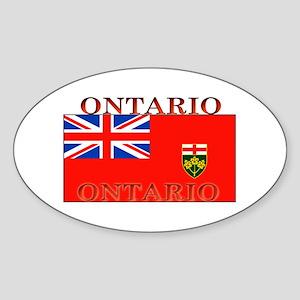 Ontario Ontarian Flag Oval Sticker