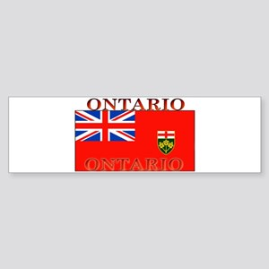 Ontario Ontarian Flag Bumper Sticker
