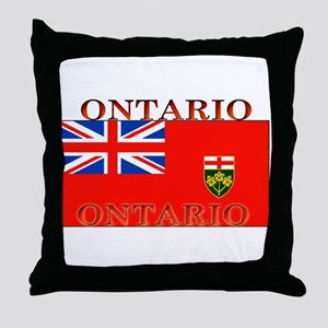 Ontario Ontarian Flag Throw Pillow