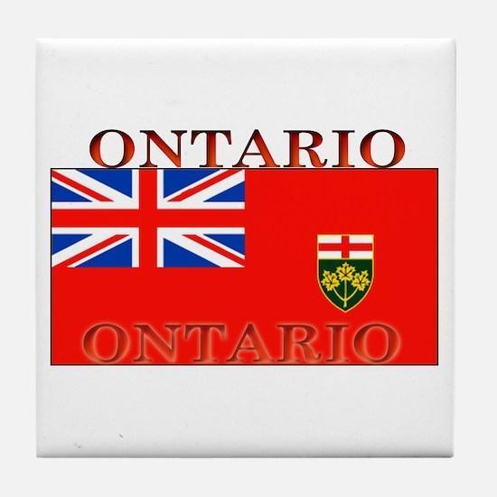 Ontario Ontarian Flag Tile Coaster