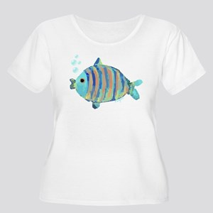 Big Fish Women's Plus Size Scoop Neck T-Shirt