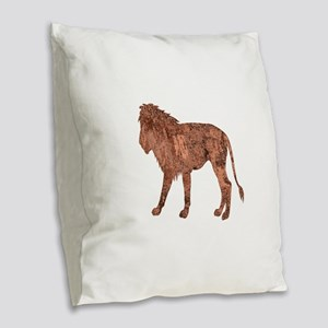 WITH NOBILITY Burlap Throw Pillow