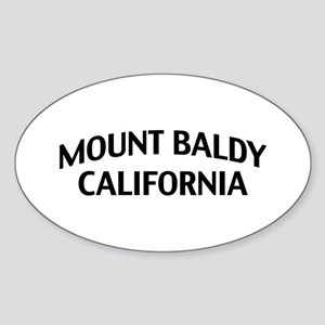Mount Baldy California Sticker (Oval)