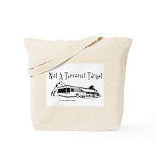 Not A Terrorist Target Tote Bag