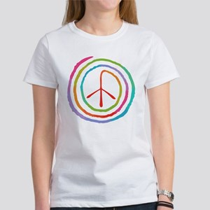 Neon Spiral Peace Sign II Women's T-Shirt
