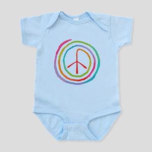 Neon Spiral Peace Sign II Infant Bodysuit