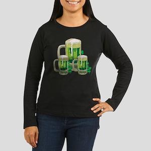 Green Beer Women's Long Sleeve Dark T-Shirt