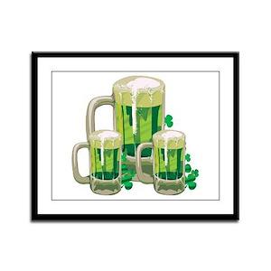 Green Beer Framed Panel Print