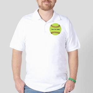 Customize Softball Name Golf Shirt