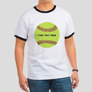 Customize Softball Name Ringer T