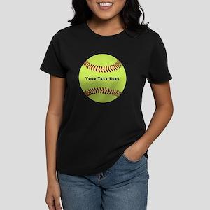 Customize Softball Name Women's Dark T-Shirt
