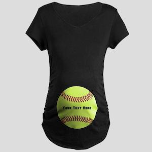Customize Softball Name Maternity Dark T-Shirt