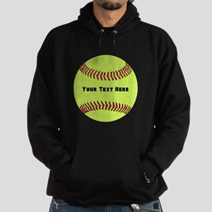 Customize Softball Name Hoodie (dark)