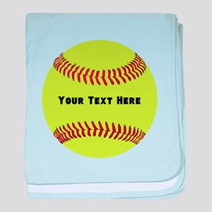 Customize Softball Name baby blanket