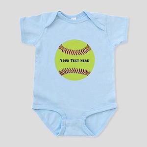 Customize Softball Name Infant Bodysuit
