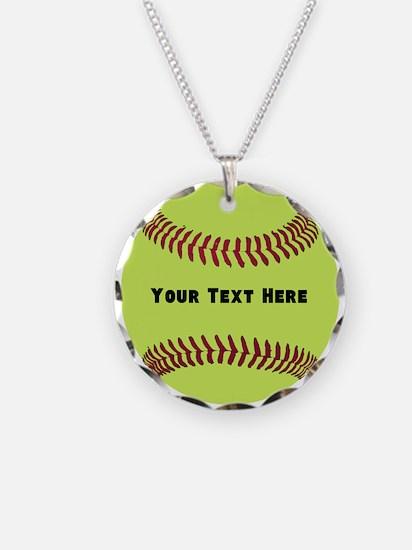 Customize Softball Name Necklace