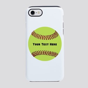 Customize Softball Name iPhone 7 Tough Case