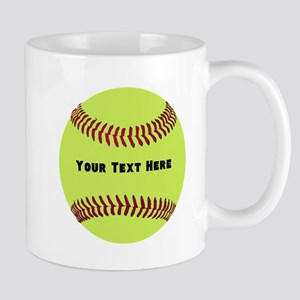 Customize Softball Name 11 oz Ceramic Mug