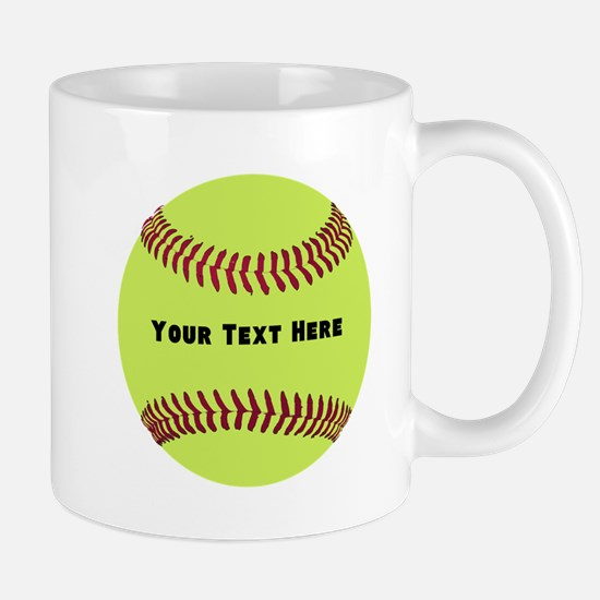 Customize Softball Name Mug