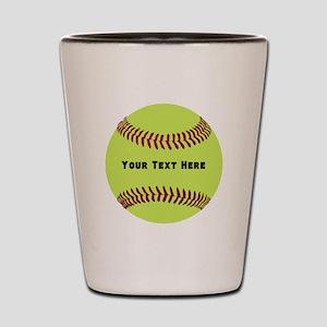 Customize Softball Name Shot Glass