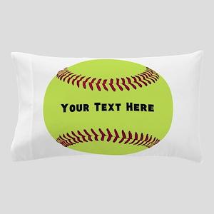 Customize Softball Name Pillow Case