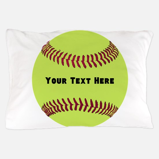 Customize Softball Name Pillow Case