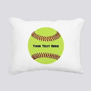 Customize Softball Name Rectangular Canvas Pillow