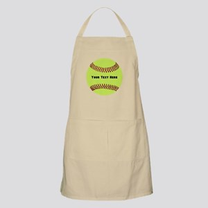 Customize Softball Name Light Apron