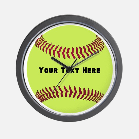 Customize Softball Name Wall Clock