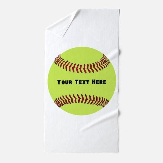 Customize Softball Name Beach Towel